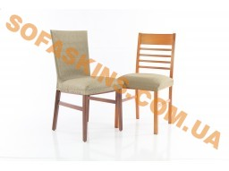 Чехол на стул со спинкой 50 см (2 штуки) Сандра Бежевый