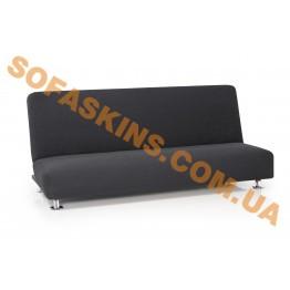 Чехол на 2-х местный диван без подлокотников Карла Серый