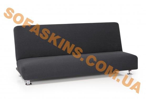 Чехол на 3-х местный диван без подлокотников Карла Серый